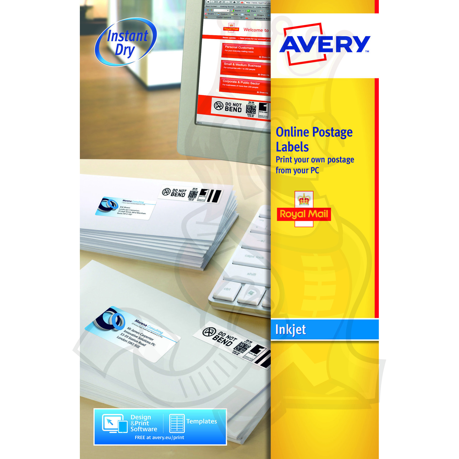 Avery Online Postage Label 135x38mm J5103-25 (250 Labels ...