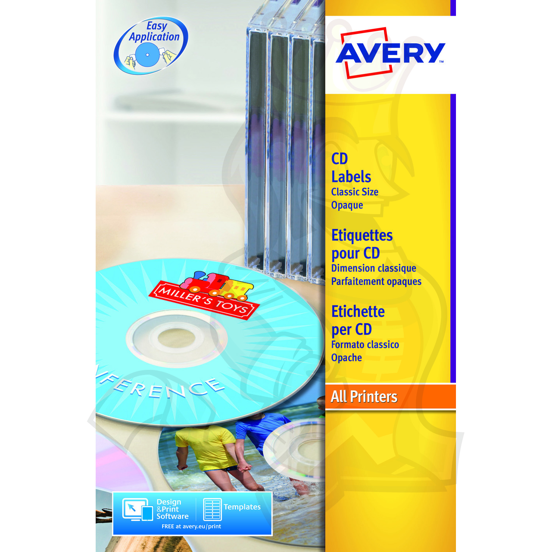 Avery Classic Size CD Labels 117mm Diameter L6043-100 (200