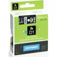 Dymo 45811 White On Black - 19mm