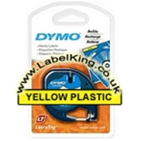Dymo 91202 Yellow Plastic Tape