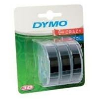 Dymo S0847730 White On Black Embossing (x3) - 9mm