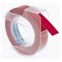 Dymo S0898150 White On Red Embossing Tape - 9mm