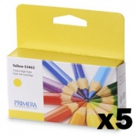 Primera 53463 Yellow LX2000e Ink (Pack of 5 Cartridges)
