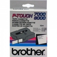Brother TX211 Black On White - 6mm