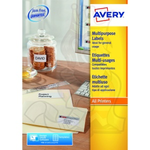 Avery Multipurpose Labels 70x42.3mm 3652 (2100 Labels)