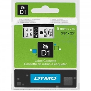 Dymo 40913 Black On White - 9mm