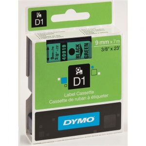 Dymo 40919 Black On Green - 9mm