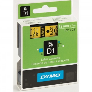 Dymo 45018 Black On Yellow - 12mm