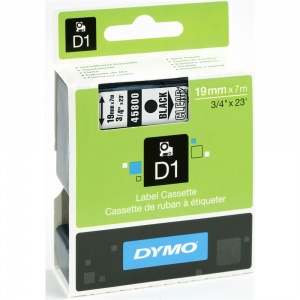 Dymo 45800 Black On Clear - 19mm