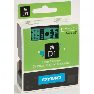 Dymo 45809 Black On Green - 19mm