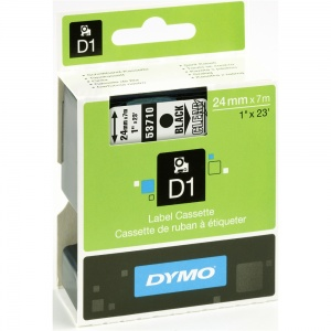 Dymo 53710 Black On Clear - 24mm