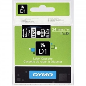 Dymo 53721 White On Black - 24mm