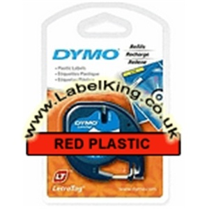 Dymo 91203 Red Plastic Tape