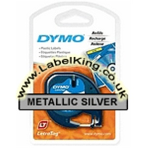 Dymo 91208 Metallic Silver Tape