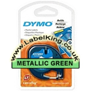 Dymo 91209 Metallic Green Tape - DISCONTINUED