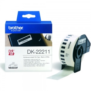 Brother DK22211 White (Film) Tape