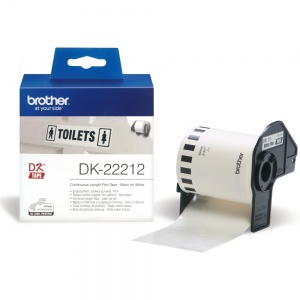 Brother DK22212 White (Film) Tape