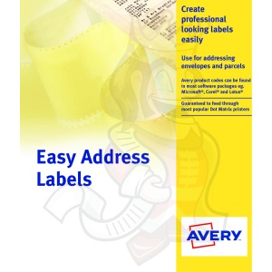 Avery Dot Matrix Labels 89x37mm EAL01 (500 Labels)