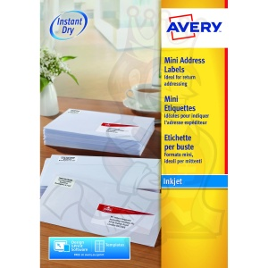 Avery Inkjet Address Labels 38x21mm J8151-100 (1625 Labels)