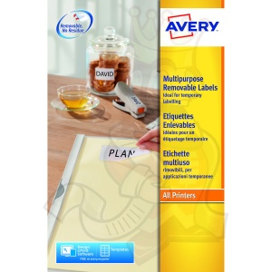 Avery Removable Labels 17.8x10mm L4730REV-25 (6750 Labels)