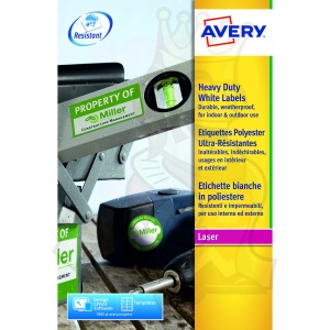 Avery Heavy Duty Labels 63.5x38mm White L7060-20 (420 Labels)