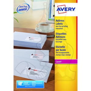 Avery QuickPEEL Laser Address Labels 99x34mm L7162-100 (1600 Labels)