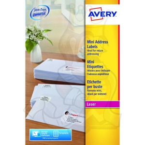 Avery Mini Laser Labels 38x21mm L7651-25 (1625 Labels)