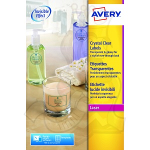 Avery Crystal Labels 210x297mm Clear L7784-25 (25 Labels)