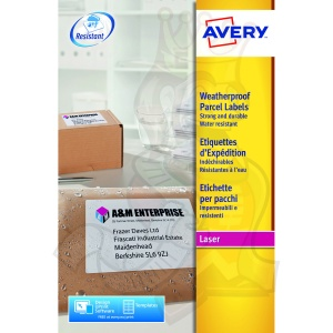 Avery Weatherproof Shipping Labels 99x139mm L7994-25 (100 Labels)
