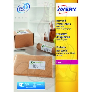 Avery QuickPEEL Recycled Laser Address Labels 200x289mm LR7167-100 (100 Labels)