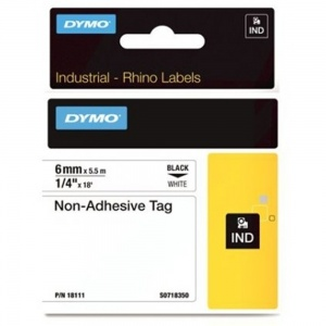 Dymo Rhino 18111 White Non-Adhesive Tag - 6mm - DISCONTINUED