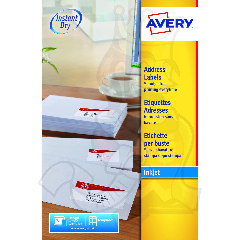 avery inkjet address label 63 5x46 6mm j8161