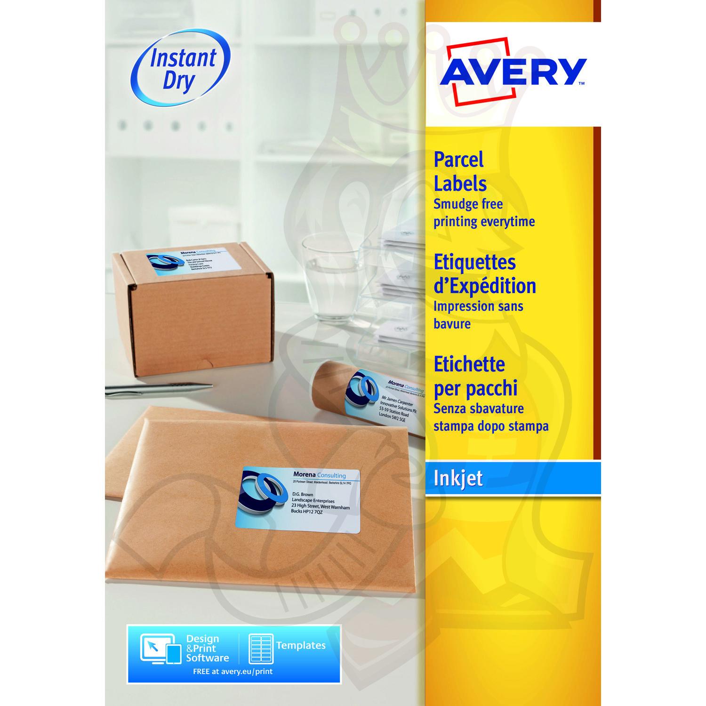 avery inkjet address labels 200x143mm j8168 100 200 labels label