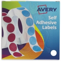 Avery Labels in Dispenser Round 19mm Diameter White 24-404 (1400 Labels)