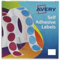 Avery Labels in Dispensers 19x25mm White 24-421 (1200 Labels)