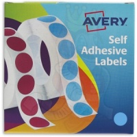 Avery Labels in Dispenser Round 19mm Diameter Blue 24-509 (1120 Labels)