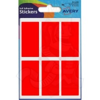 Avery Coloured Labels Packet 25x50mm Red 32-220 (10 Packs of 36 Labels)