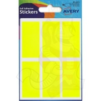 Avery Coloured Labels Packet 25x50mm Yellow 32-223 (10 Packs of 36 Labels)