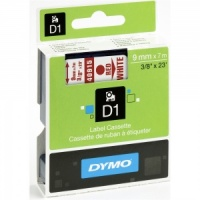 Dymo 40915 Red On White - 9mm