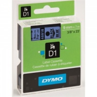Dymo 40916 Black On Blue - 9mm
