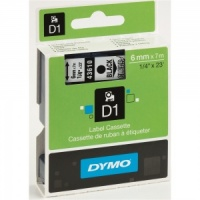 Dymo 43610 Black On Clear - 6mm