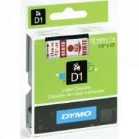 Dymo 45015 Red On White - 12mm