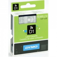 Dymo 45020 White On Clear - 12mm