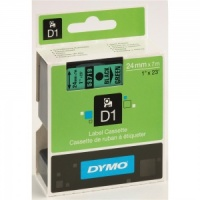 Dymo 53719 Black On Green - 24mm - DISCONTINUED