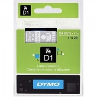 Dymo 53720 White On Clear - 24mm - Discontinued