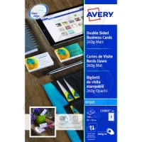 Avery Business Cards Double Sided 260 g/m² Matt 85x54mm C32015-25 (200 Cards)