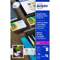 Avery Business Cards Double Sided 220 g/m² Satin 85x54mm C32016-25 (250 Cards)