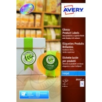 Avery Glossy Labels Round 60mm Diameter J8105-10 (120 Labels)