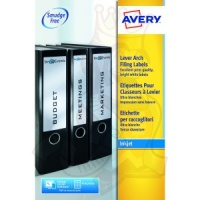 Avery Lever Arch Filing Labels 200x60mm J8171-25 (100 Labels)