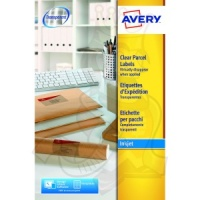 Avery Clear Inkjet Labels 210x297mm J8567-25 (25 Labels)